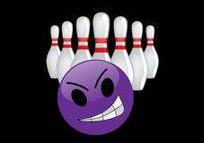 Crazy bowling ball Royalty Free Stock Image