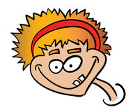 Crazy boy. Picture of crazy smiling boy Royalty Free Stock Photos