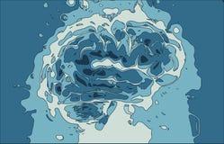 Crazy brain royalty free stock photos