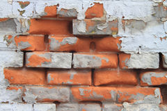 Crazy Bricks Texture Background Royalty Free Stock Photography