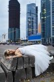 Crazy bride Royalty Free Stock Image