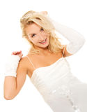 Crazy bride. Picture of a Crazy bride Royalty Free Stock Image