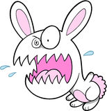 Crazy Bunny Rabbit. Insane Crazy Bunny Rabbit Vector Illustration Stock Images