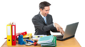 Crazy Business Man Royalty Free Stock Photography