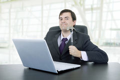 Crazy business man stock photos