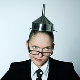 Crazy business woman Stock Images