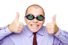 Crazy businessman Stock Images