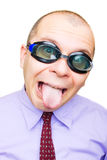 Crazy businessman Royalty Free Stock Photos