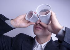Crazy businessman Royalty Free Stock Photography