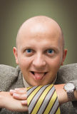 Crazy BusinessMan. With tongue out Stock Photography