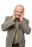 Crazy Businessman. Isolated Royalty Free Stock Images