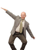 Crazy Businessman. Crazy Happy BusinessMan Isolated Royalty Free Stock Images