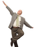 Crazy Businessman. Crazy Happy BusinessMan Isolated stock photo