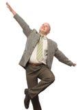 Crazy Businessman. Crazy Happy BusinessMan Isolated Stock Photo