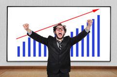 Crazy  businessman Stock Image