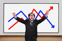 Crazy  businessman Royalty Free Stock Images