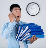 Crazy businessman Stock Images