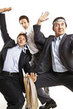 Crazy businessmen dancing Royalty Free Stock Photography