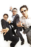 Crazy businessmen dancing Royalty Free Stock Image