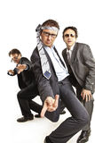 Crazy businessmen dancing Stock Image