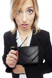Crazy businesswoman Royalty Free Stock Photography