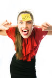 Crazy businesswoman Royalty Free Stock Photo