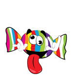 Crazy Candy cartoon Stock Image