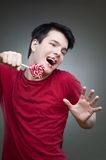 Crazy candy man Stock Images