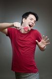 Crazy candy man Stock Image