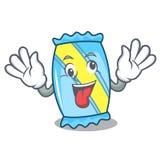 Crazy candy mascot cartoon style vector illustration