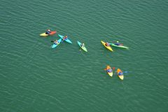 Crazy canoeists Stock Photos