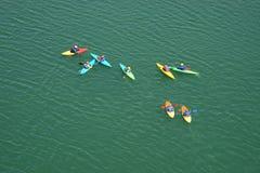 Crazy canoeists Stock Photos