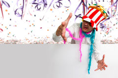 Crazy Carnival party time. And copy space Royalty Free Stock Images