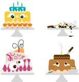 Crazy cartoon cakes Stock Photos