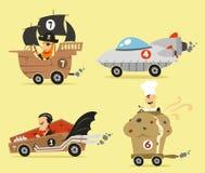 Crazy cartoon cars Royalty Free Stock Photography