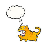 Crazy cartoon cat with thought bubble Royalty Free Stock Photos