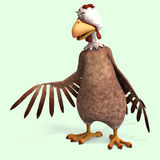 Crazy cartoon chicken Royalty Free Stock Photo