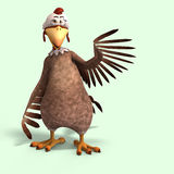 Crazy cartoon chicken Royalty Free Stock Photography
