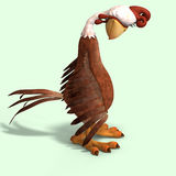 Crazy cartoon chicken Stock Photo