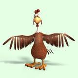 Crazy cartoon chicken Stock Photos