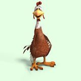 Crazy cartoon chicken Royalty Free Stock Photos