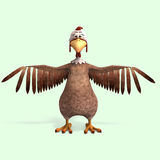 Crazy cartoon chicken Royalty Free Stock Images