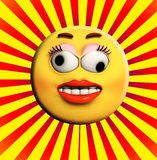 Crazy Cartoon Face Royalty Free Stock Images