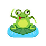 Crazy Cartoon Frog Character Stock Photo