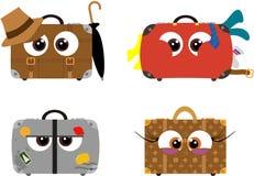 Crazy cartoon luggage Royalty Free Stock Photo