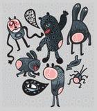 Crazy cartoon monsters. Stock Photos
