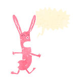 Crazy cartoon rabbit Royalty Free Stock Images