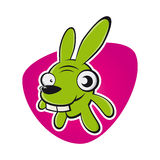 Crazy cartoon rabbit Royalty Free Stock Photography