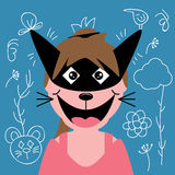 Crazy cat character Royalty Free Stock Photography
