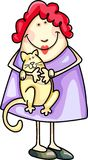 CRAZY CAT LADY Stock Images